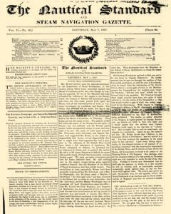 Nautical Standard, May 01, 1847, Page 1
