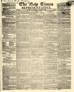 New Times And Representative, October 07, 1826, Page 1