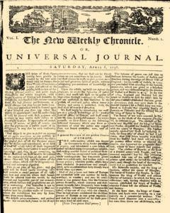 New Weekly Chronicle Or Universal Journal