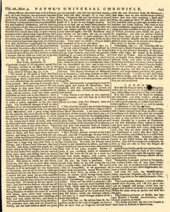 Paynes Universal Chronicle Or Weekly Gazette