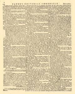 Paynes Universal Chronicle or Weekly Gazette, July 22, 1758, Page 4