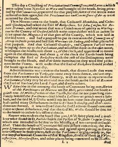 Perfect Diurnall, August 15, 1642, Page 1