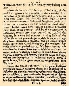 Perfect Diurnall, February 26, 1655, Page 2