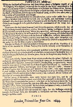 Perfect Occurences of Parliament, October 18, 1644, Page 6