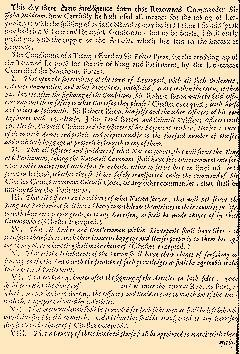 Perfect Occurences Of Parliament, October 25, 1644, Page 1