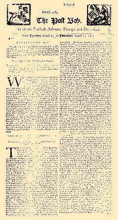 Post Boy, August 22, 1710, Page 1