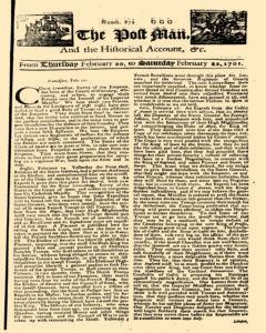 Post Man, February 20, 1701, Page 1