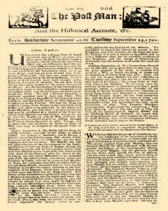 Post Man, September 20, 1701, Page 1
