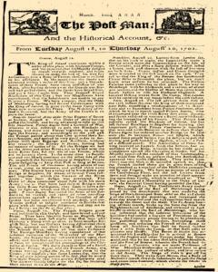 Post Man, August 18, 1702, Page 1
