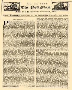Post Man, September 17, 1702, Page 1