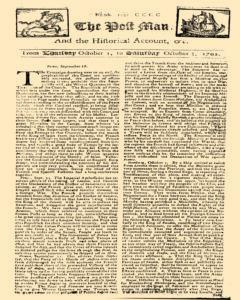 Post Man, October 01, 1702, Page 1