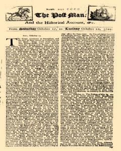 Post Man, October 17, 1702, Page 1