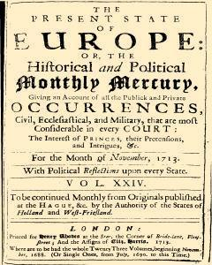 Present State Of Europe, November 01, 1813, Page 1