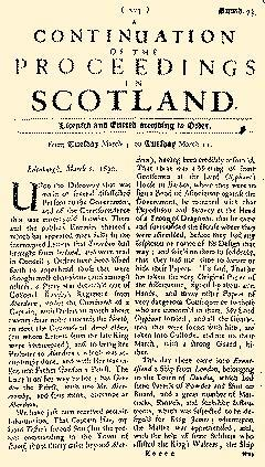 Proceedings Of Convention The States In Scotland, March 04, 1889, Page 1