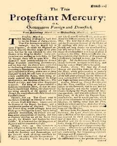 Protestant Mercury, March 11, 1682, Page 1