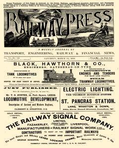 Railway Press, March 22, 1890, Page 1
