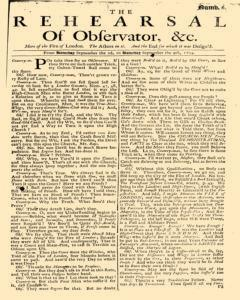Rehearsal Of Observator, September 02, 1704, Page 1