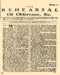 Rehearsal Of Observator, November 25, 1704, Page 1