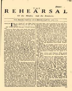 Rehearsal, August 12, 1704, Page 1