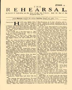 Rehearsal, August 19, 1704, Page 1