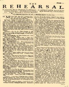 Rehearsal, September 30, 1704, Page 1
