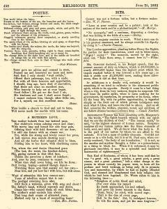 Religious Bits, June 25, 1892, Page 12