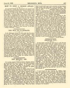 Religious Bits, June 25, 1892, Page 11