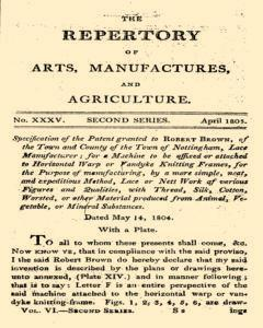 Repertory Of Arts And Manufactures, April 01, 1805, Page 1