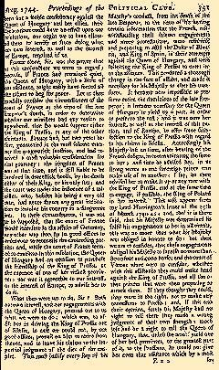 Scots Magazine, August 01, 1744, Page 1