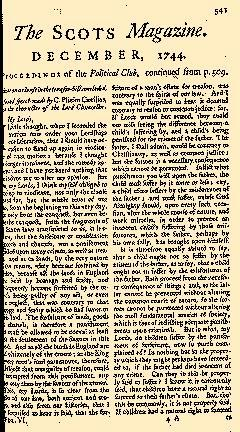 Scots Magazine, December 01, 1744, Page 1