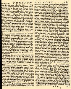 Scots Magazine, December 01, 1744, Page 20