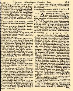 Scots Magazine, December 01, 1744, Page 21
