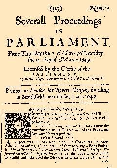 Several Proceedings In Parliament, March 07, 1649, Page 1