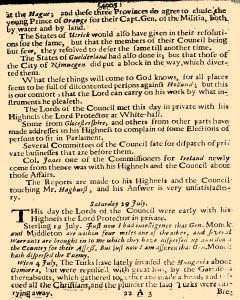 Several Proceedings of State Affaires, July 27, 1654, Page 6