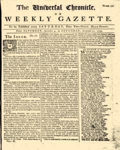 Universal Chronicle And Weekly Gazette
