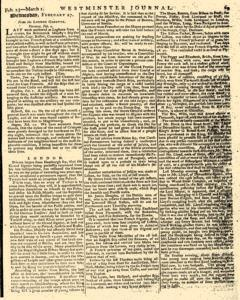 Universal Chronicle And Westminster Journal