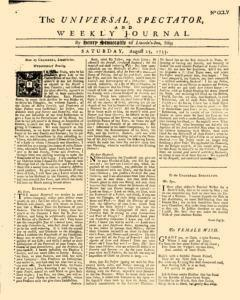 Universal Spectator And Weekly Journal