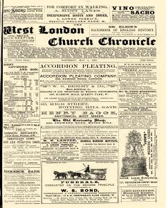 West London Church Chronicle, May 06, 1893, Page 1