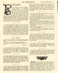 Wheelwoman and Society Cycling News, March 06, 1897, Page 6