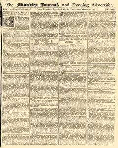 Middlesex Journal And Evening Advertiser