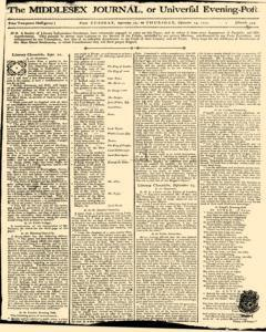 Middlesex Journal, September 22, 1772, Page 1