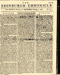Edinburgh Chronicle, March 03, 1760, Page 1