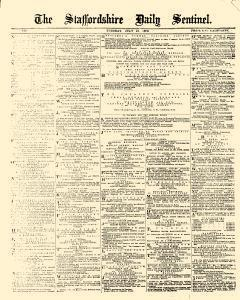 Stoke On Trent Staffordshire Daily Sentinel, July 13, 1875, Page 1