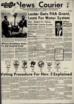 Athens News Courier, October 29, 1968, Page 3