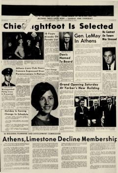 Athens News Courier, November 21, 1968, Page 1