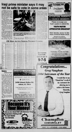 Athens News Courier, January 12, 2005, p. 6