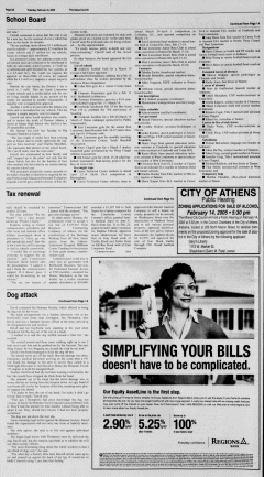 Athens News Courier, February 08, 2005, Page 15