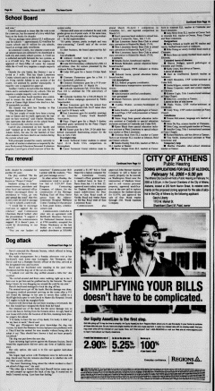 Athens News Courier, February 08, 2005, Page 16