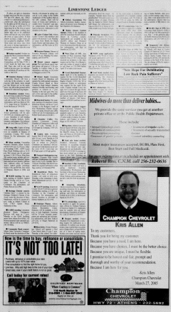 Athens News Courier, April 17, 2005, Page 15