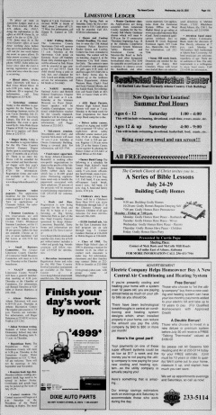 Athens News Courier, July 20, 2005, Page 43